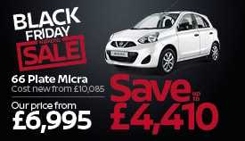 Nearly new Nissan Micra for just £6,995, a saving of up to £4,410