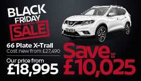 Nearly new Nissan X-Trail for just £18,995, a saving of up to £10,025!