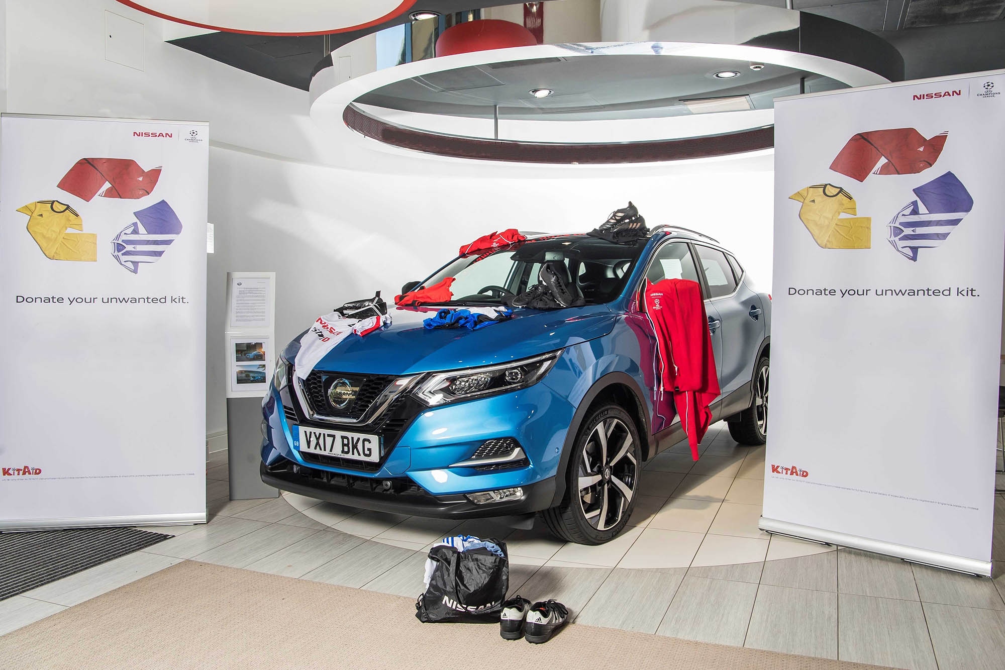 Nissan's Drive To Boost Football Charity KitAid