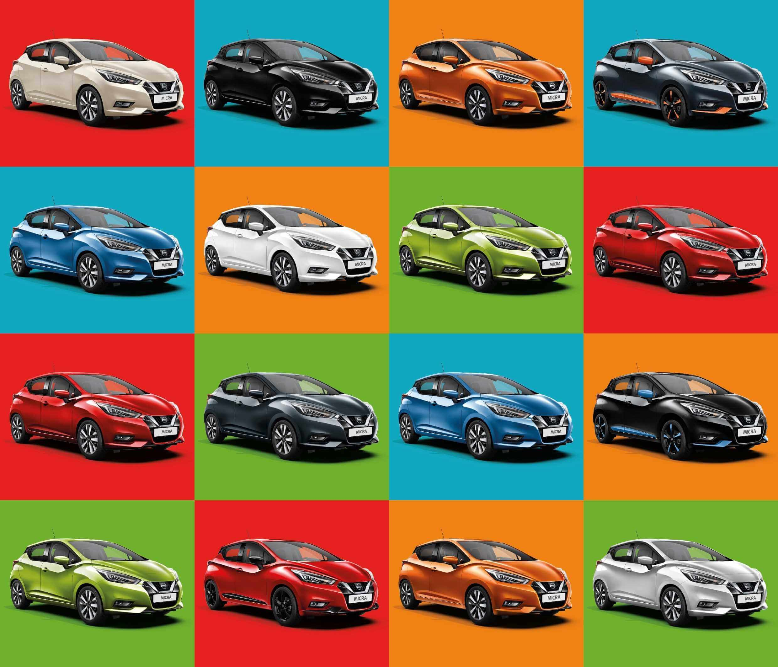 Nissan reveals changing face of Micra colour choices