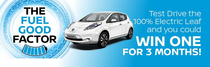 Fuel Good Factor - Win a LEAF for 3 Months by Test Driving
