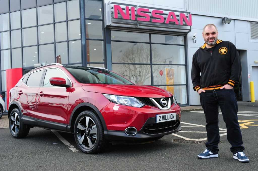 The 2 millionth Qashqai with Mr Wainwright