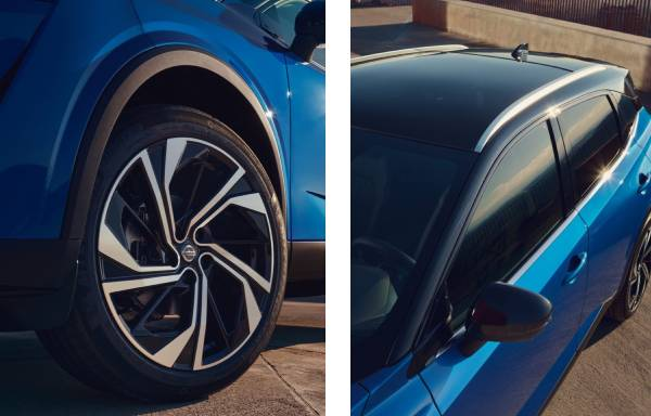 all-new nissan qashqai alloy wheels and black roof
