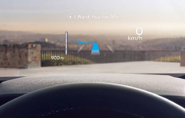 all-new nissan qashqai heads up driving display