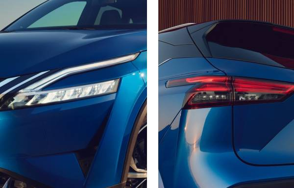 all-new nissan qashqai led headlights and led rear lights
