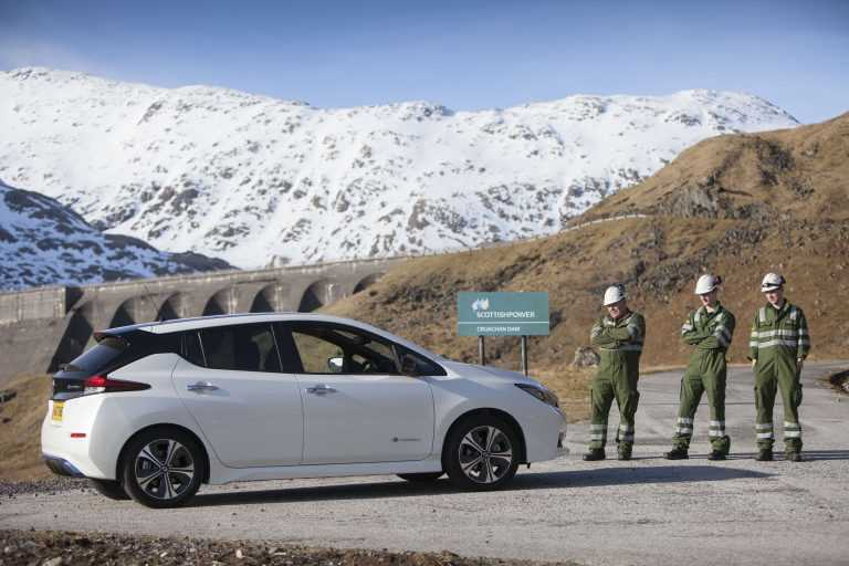 "Scotland's ""Biggest Battery"" Charges New Nissan LEAF"