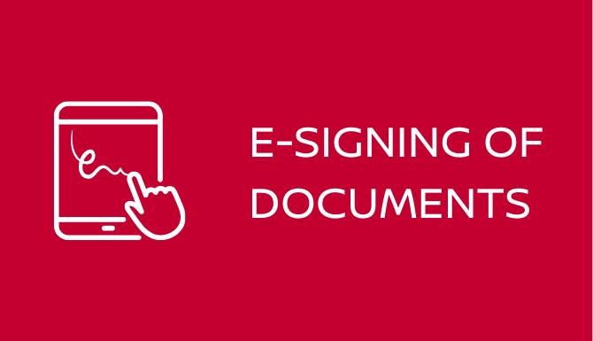 E-Signing Documents