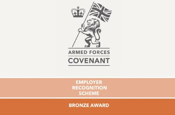 West Way Awarded Bronze in Defence Employer Recognition Scheme
