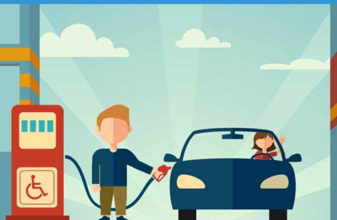 Free App that helps drivers with a disability refuel