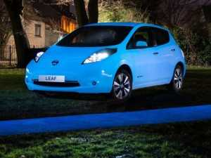glow-in-the-dark paint to a car, with the Leaf EV -2015 at West Way Nissan
