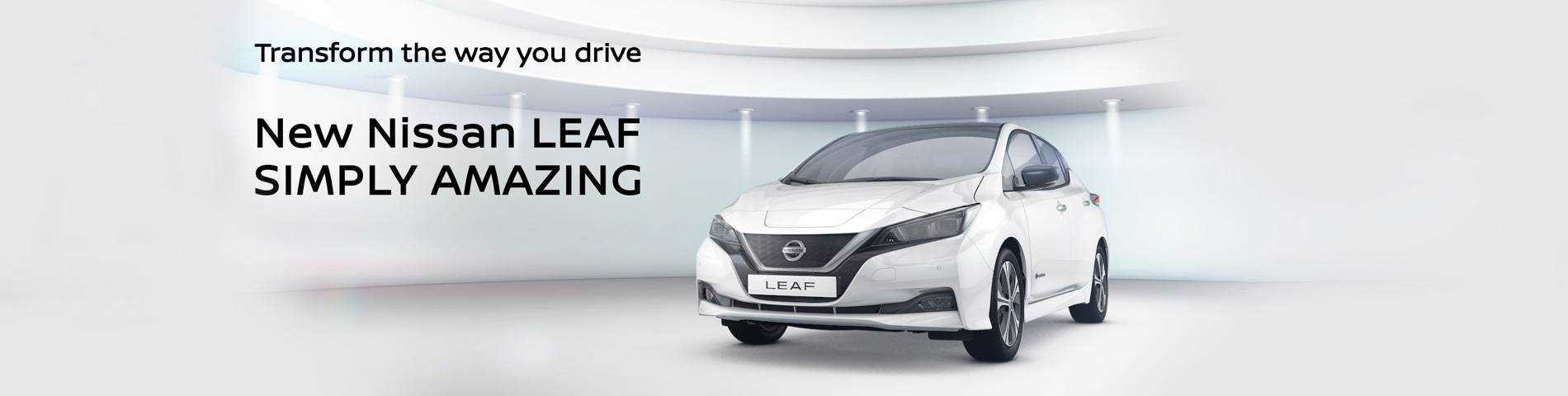 Go electric and save money with nissan leaf