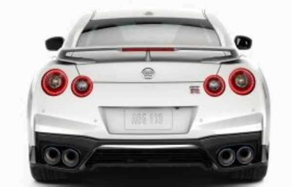 gt-r twin rear lights and exhaust pipes