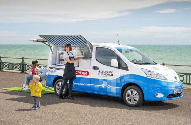 From Sky to Scoop: Nissan unveils zero-emission ice cream van concept for Clean Air Day