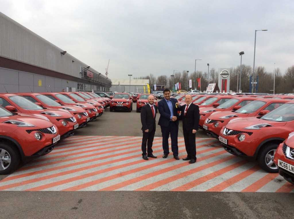 key handover on Nissan Juke's at Kindertons