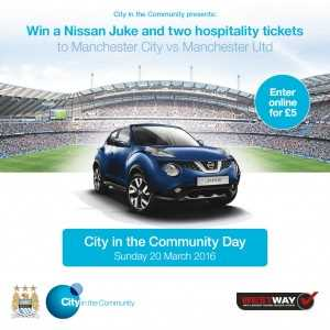 West Way Nissan Teams up with MCFC Official Charity for Juke Giveaway