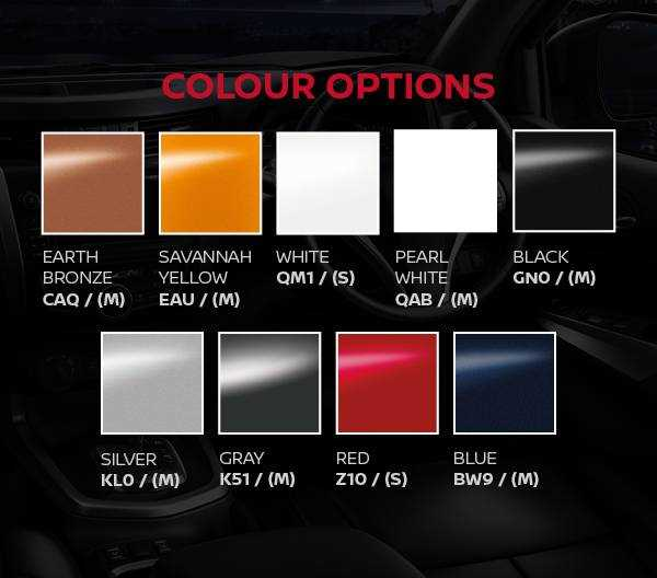 Navara AT35 Colour Options