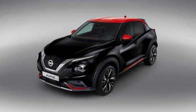 new nissan juke personalised black and red roof