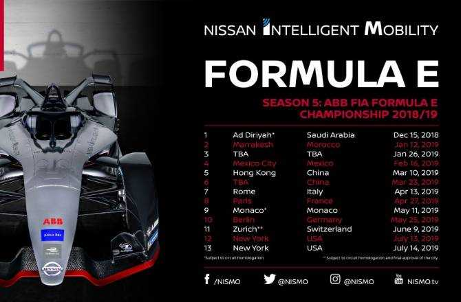 Nissan Formula E To Race In 12 Cities Worldwide