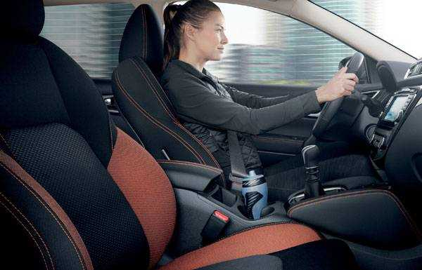 nissan qashqai n-motion new seat design with orange stitching