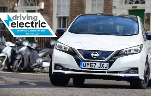 Nissan LEAF named 'Best Used Electric Car' in Driving Electric Awards 2020