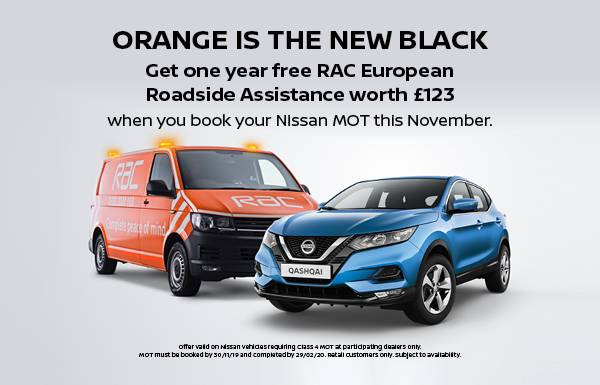Free RAC with your Nissan MOT