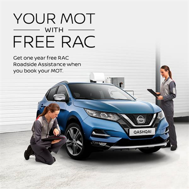 Get 12 months FREE RAC cover worth £123 when you book an MOT with West Way