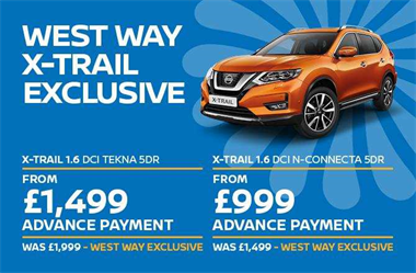 Exclusive West Way Offer: £500 discount on selected Motability Nissan X-Trails