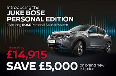 Sounds like a great deal: Save £5,000 on the Juke BOSE Personal Edition