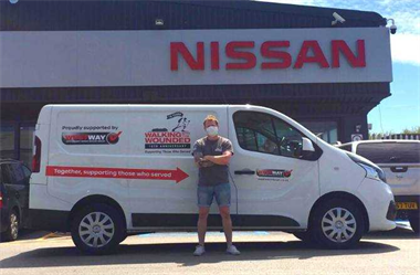 West Way pleased to provide Nissan NV300 to Walking With The Wounded