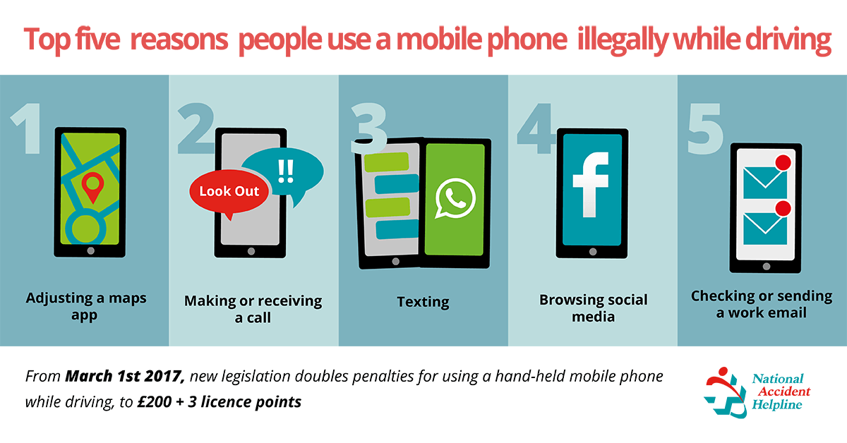 Top 5 reasons people use phone whilst driving